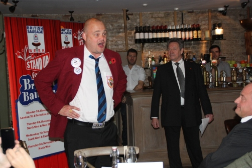 Al Murray at British Sausage Week