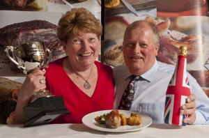 Last year's winners, Val and John Pettit with their innovative 'Pork and Mushroom Stack.'