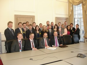 Members of the Poultry Industry Programme meet with Minister David Heath.