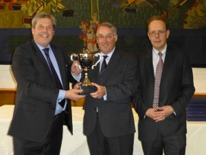 Richard-Taylor-(left)-collects-the-BPEX-Foodservice-Pork-Product-of-the-Year-award-for-2013 from BPEX's Stewart Houston (centre) and Tony Goodger.