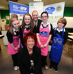 Pupils have teamed up with meat processor, AK Stoddart.