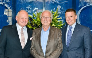 L-R: Peter Allen with Michel Roux Snr, and Russell Allen. (Picture courtesy of Chris Clark Photography).