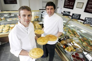 Peter Turner (left) and Joe Turner (right) from Turner's Pies.