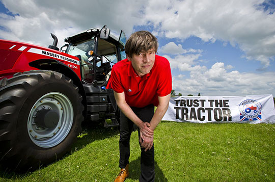Musician Alex James will be asking consumers to Trust the Tractor.