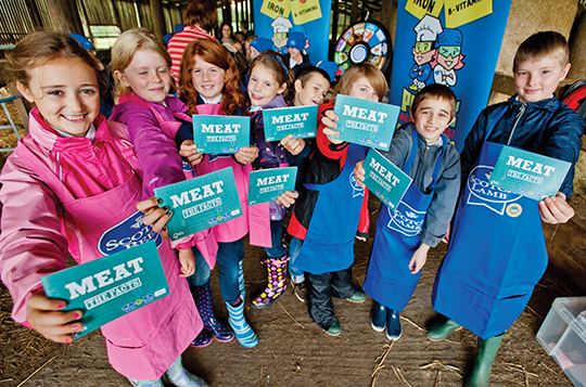 "Bearsden Primary School pupils helped to launch the new QMS ""Meat the Facts"" booklet."