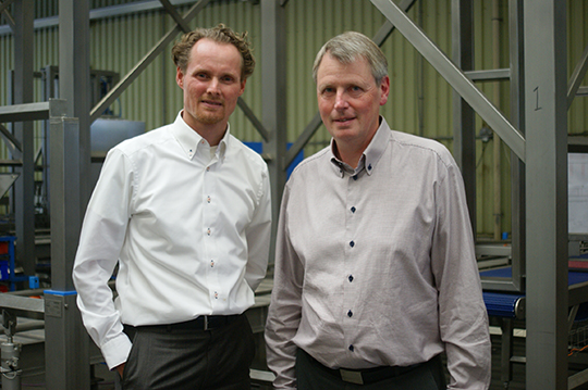 Stephan Toxopeus, managing director of NAWI (left) and Ib Sand Nykjaer, CEO of SFK LEBLANC.