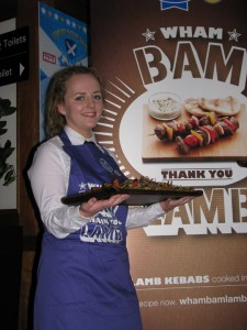 Samples of Scotch Lamb dishes from the recent QMS Wham Bam Thank You Lamb campaign were enjoyed by 700 guests who attended the awards.