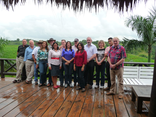 Dominican Republic's Ministry of Agriculture officials and staff at the Los Angeles ranch.