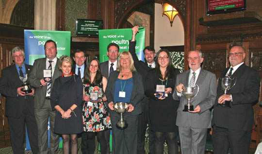 The winners of the 2013 British Poultry Council Awards.