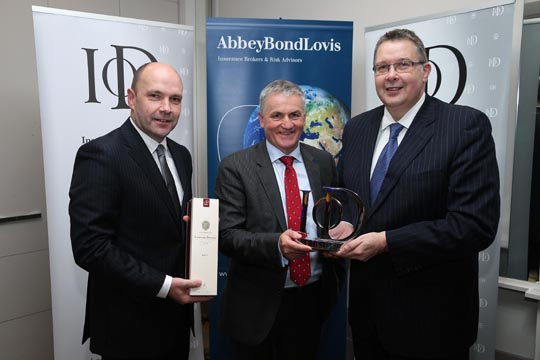 Pictured from left; Maurice Boyd MD Abbey Bond Lovis, Jim Dobson Dunbia and Paul Terrington Chairman IoD NI.