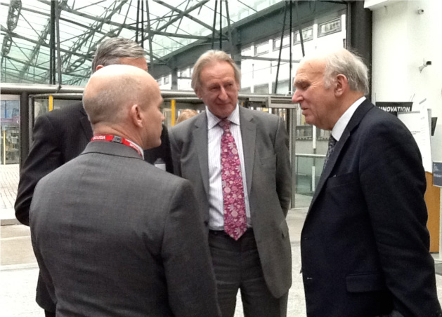 Gary Chadwick and the NFMFT's Roger Kelsey chat with Lord Curry and Vince Cable.