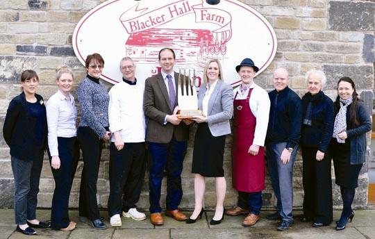 Blacker Hall Farm Shop's winning team.
