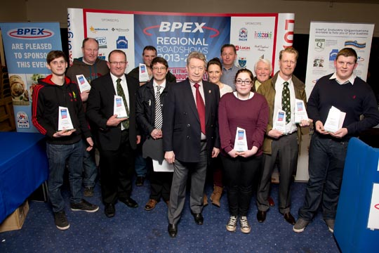 Group shot of all the winners in the Regional Pork Product Excellence Awards