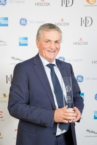 Jim Dobson OBE with his Institute of Directors top award.