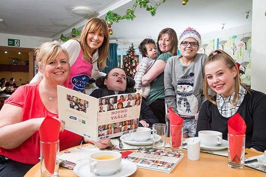 Carol Smillie and QMS help kitchen team at Rachel House ...