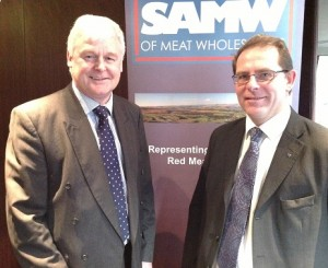 Alan McNaughton SAMW president (left) and Geof Ogle ceo (right)