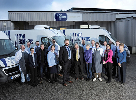 Images show Director Gavin Roberts and the Two Brothers team at the distribution hub near Newquay.