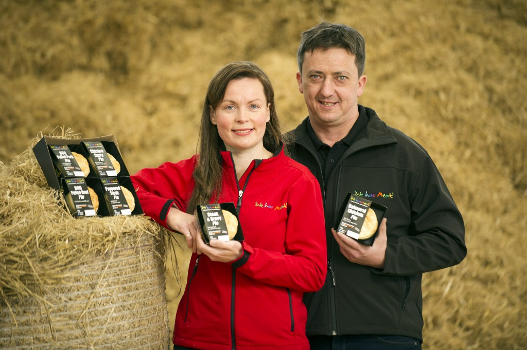 We hae meat's Carole and Alex Paton with the company's new Single Portion Pie range.