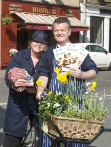 Kinross-based butcher Iain Hunter and his wife Pamela with the new publication.