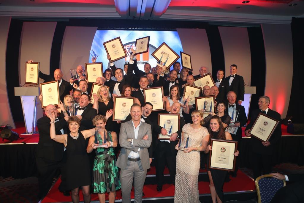 Group shot of winners from the MM Awards 2015