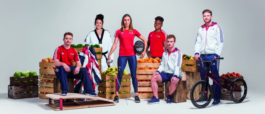 The six Team GB athletes who will be the face of the Aldi campaing. Picture L-R: