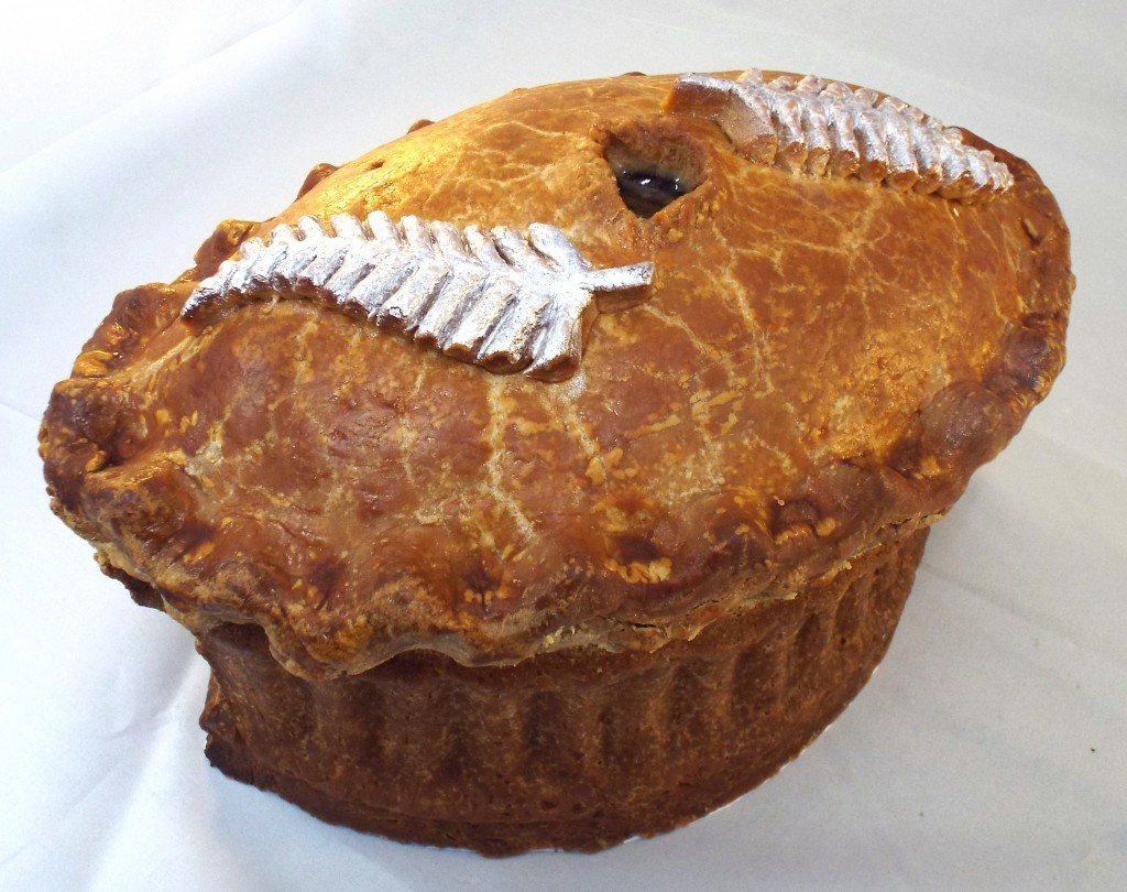 The special layered version of their traditional pork pie for Rugby World Cup finalists, the New Zealand All Blacks.