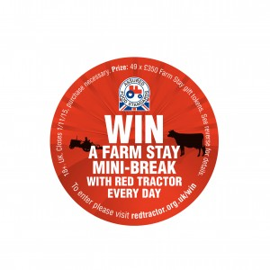The Red Tractor on-pack promotion gives shoppers the chance to win a farm stay mini break.