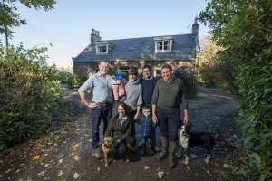 Scottish Beef Farmer of the year finalists, the Aberdeenshire family.