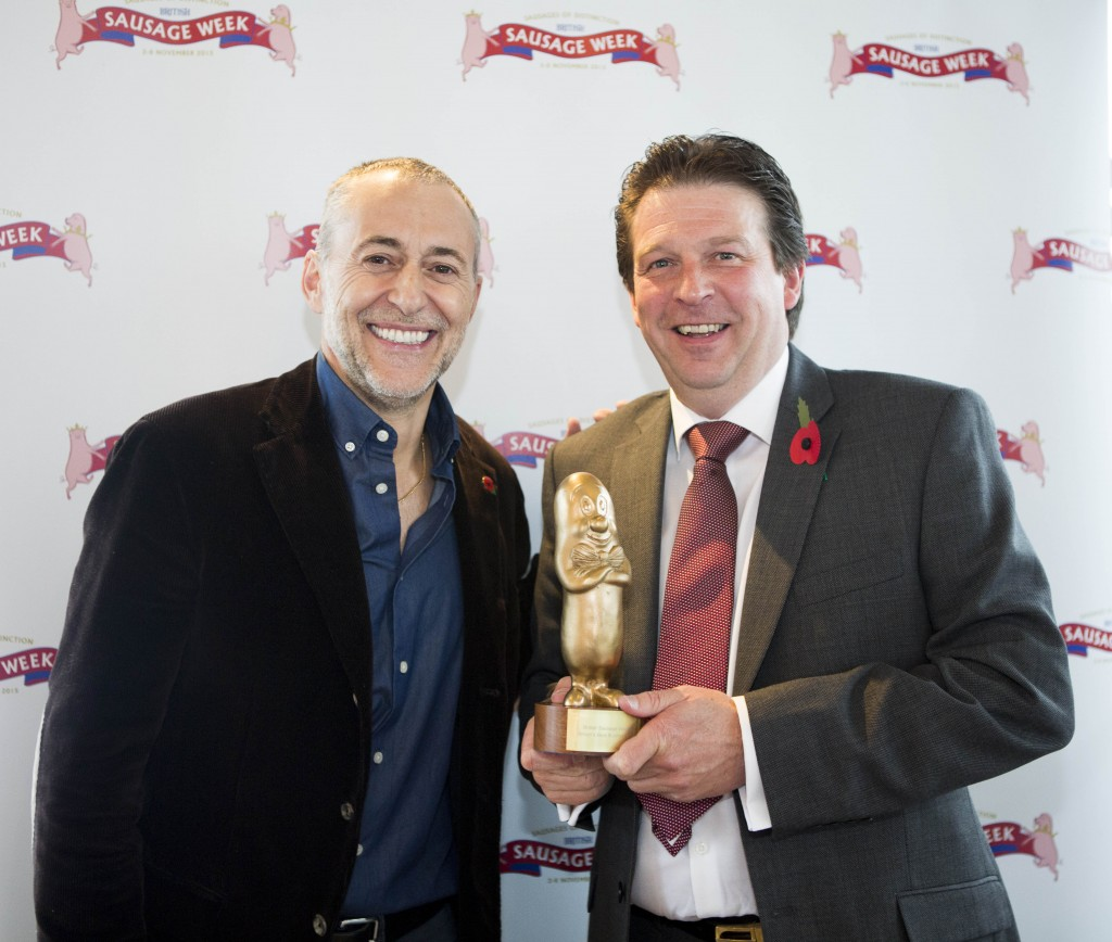 Taking the independent category and awarded Best British Butchers Banger was Shaun Vining of Complete Meats, alongside Michel Roux Jr.