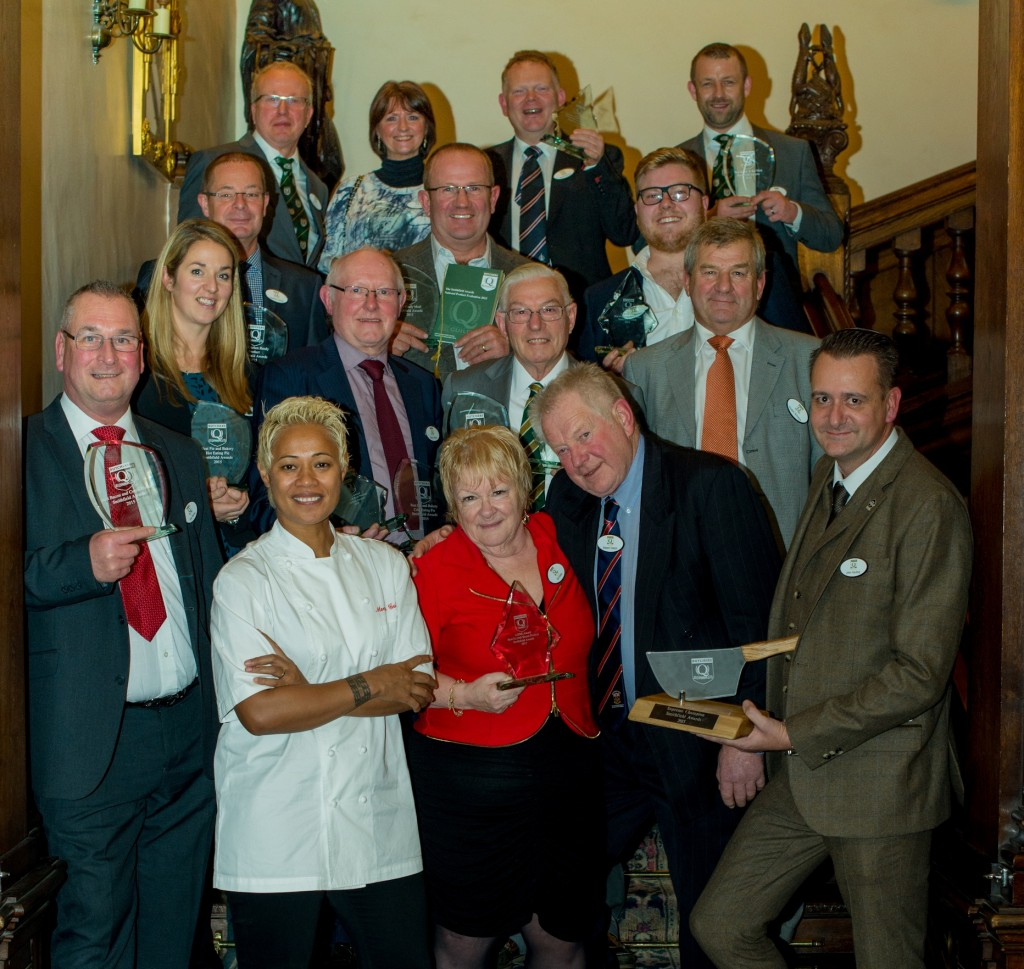 Monica Galetti with this year's Smithfield Award winners.