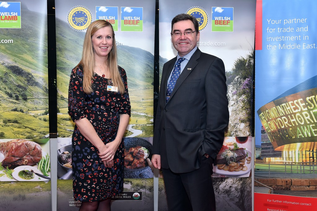 British Ambassador Mr. Paul Fox with HCC's Deanna Leven.