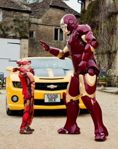 Joshua meets Iron Man, just one example of the dreams that Make-A-Wish fulfil