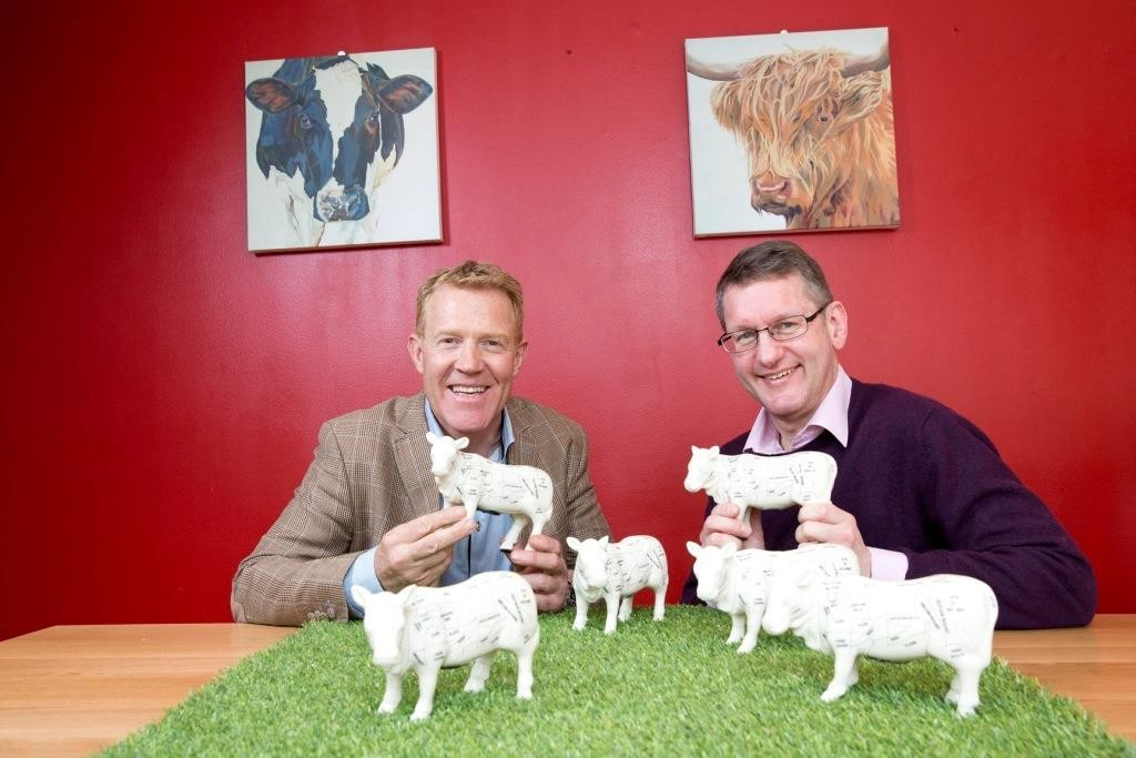 Adam Henson and Richard Swannell at the launch of the Love Food Hate Waste's Meaty Issues campaign.