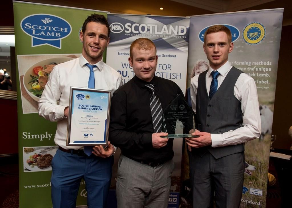 (L-R) Winning butchers Gavin Colquhoun, Mark Smythe and Declan Small of Elderslie Butchers.