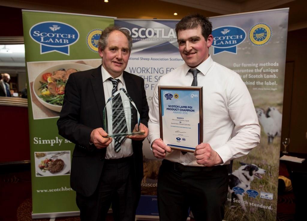 (L-R) Winners John Lawson Snr and John Lawson Jnr of John Lawson Butchers.