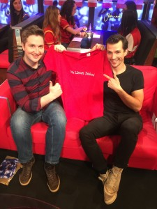 Welsh TV and radio presenter Ifan Jones Evans, and Tregaron model, Dylan Garner also showed their support with Yn Llawn Daioni - Bred in Heaven Welsh Beef t-shirts.