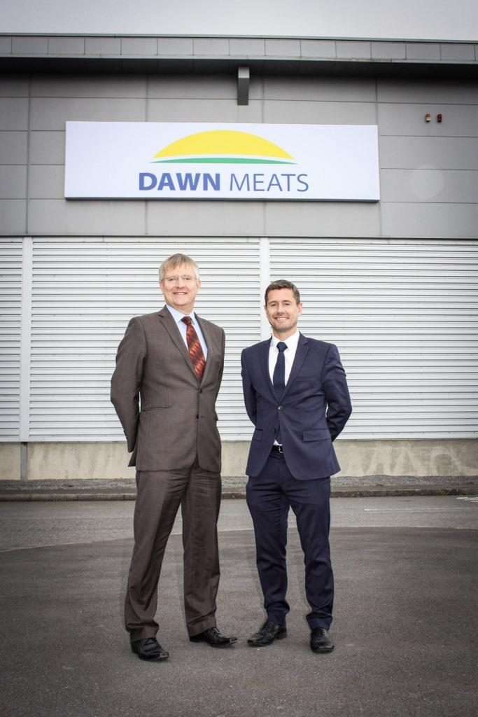 Peter Maddox, WRAP and Marcus Sherreard, Dawn Meats pictured at Dawn Meats.