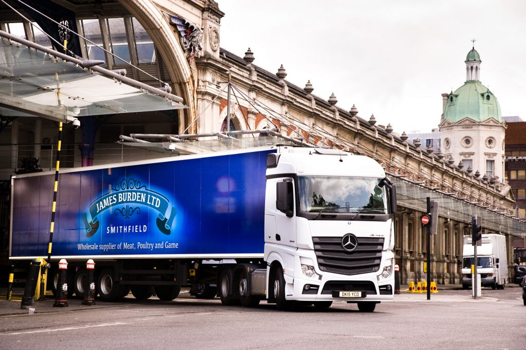 james-burden-lorry-emerging-from-smithfield-market