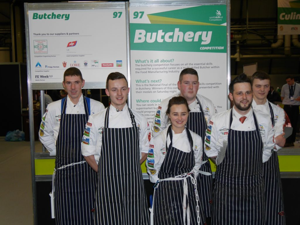The WorldSkills butchery competition finalists.