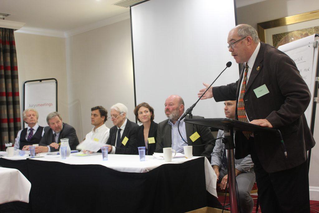 (L to R): Malcolm Mitchell (SRUC); Collin Willson (FSA); Vasco Antunes (DG Sante); Derek Williams (FDQ); Tasha Sexton (Capestone Organic Poultry); Craig Kirby (AIMS); Gavin Morris (Dunbia) and Charlie Mason (HSA).  Photo credit: HSA.