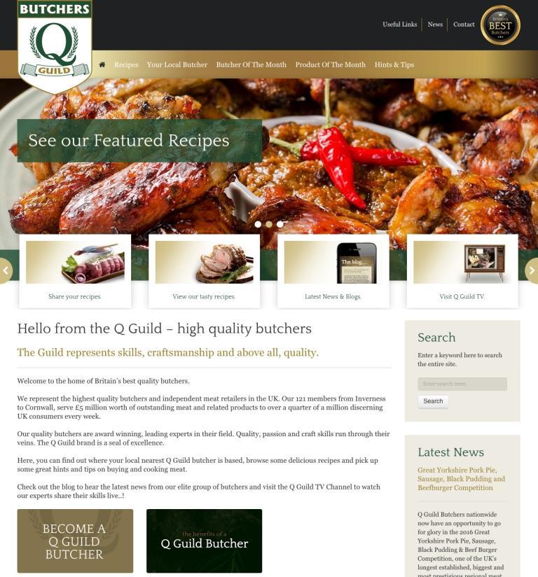 The new Q Guild website.