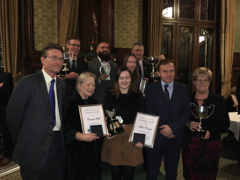 The British Poultry Council Awards winners at the House of Commons.