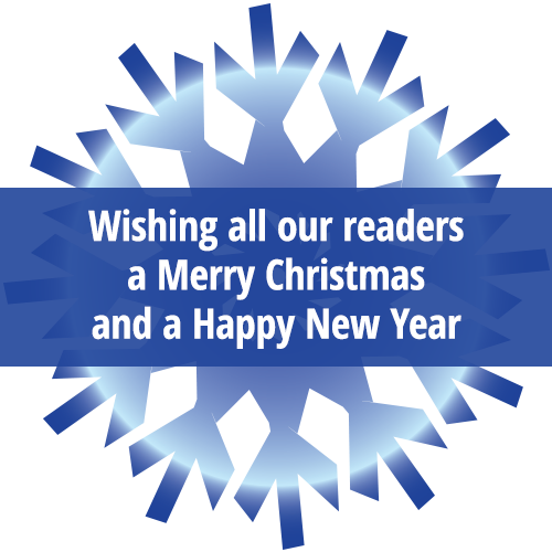 Wishing all our readers a Merry Christmas and a Happy New Year.