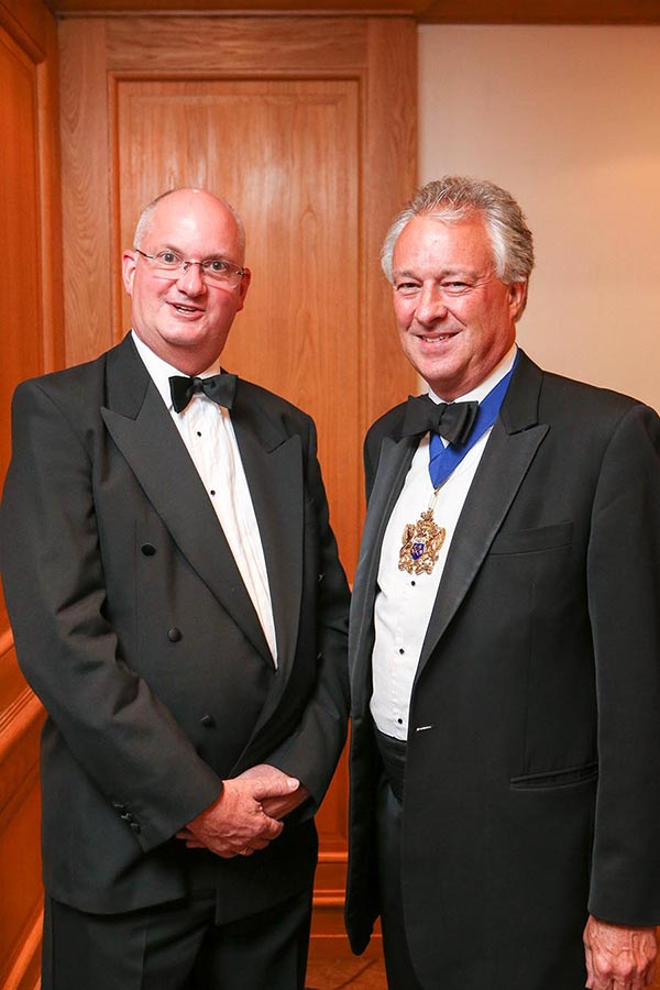 BDCI festival chairman Julian Pursglove with Stuart Thompson, master of the Worshipful Company of Butchers.