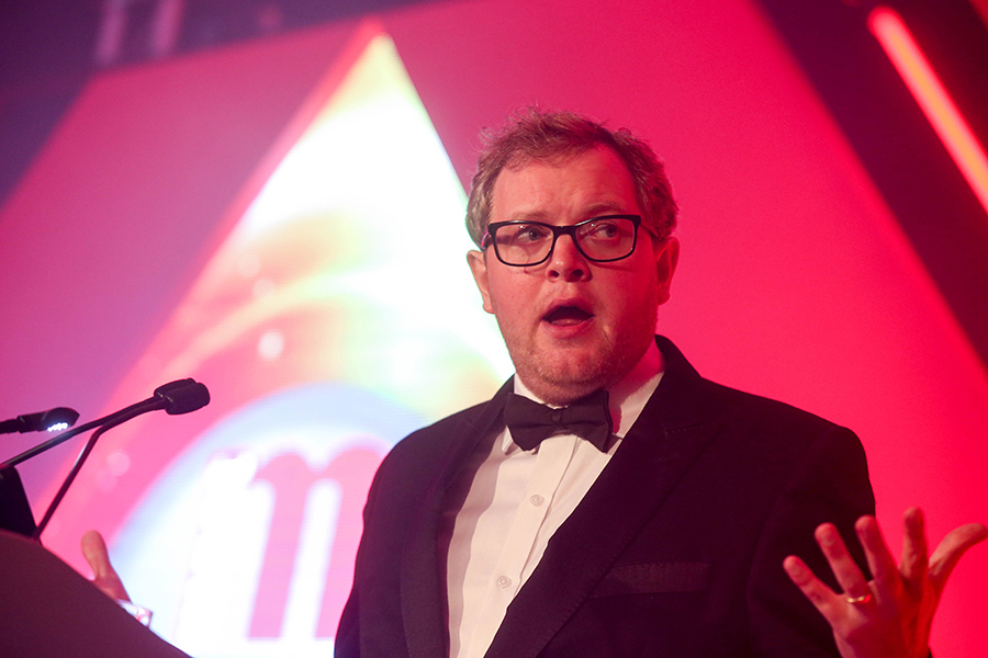 Comedian Miles Jupp co-hosted the awards ceremony.