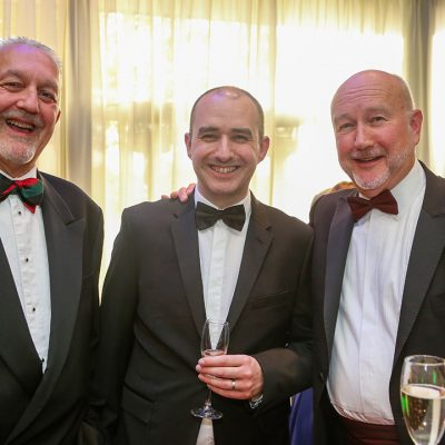 Rob Smith of Danish Crown, Meat Management director Rob Yandell and Meat Management publisher Graham Yandell.