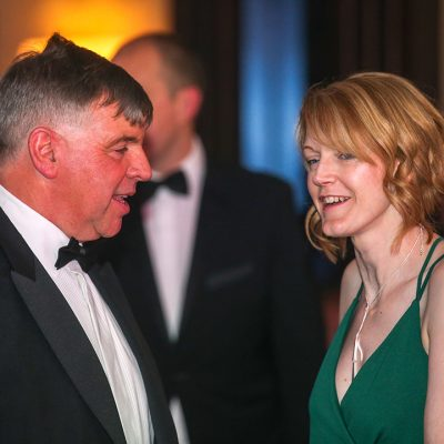 BMPA chief executive Nick Allen and Meat Management Industry Awards organiser Emma Cash.