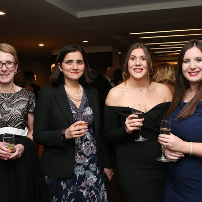 Máire Burnett and Shraddha Kaul of the British Poultry Council with Meat Management's Gabby La Mura and Emily Ansell Elfer.