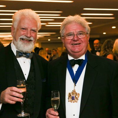 The Institute of Meat's Bill Jermey and the Master of the Worshipful Company of Butchers, Graham Baker.