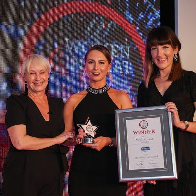 THE RISING STAR AWARD - L-R: Lesley Waters, winner Sophie Cave of Tulip Ltd and award partner Aisling Herbert of Kerry.